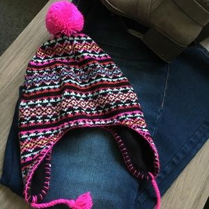 Colorful winter hat!